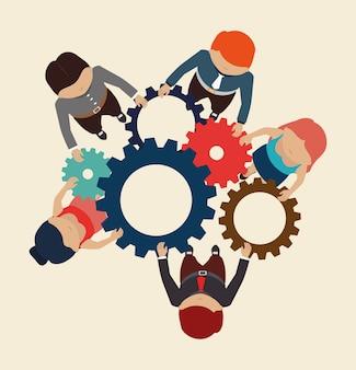 Diseño de trabajo en equipo.