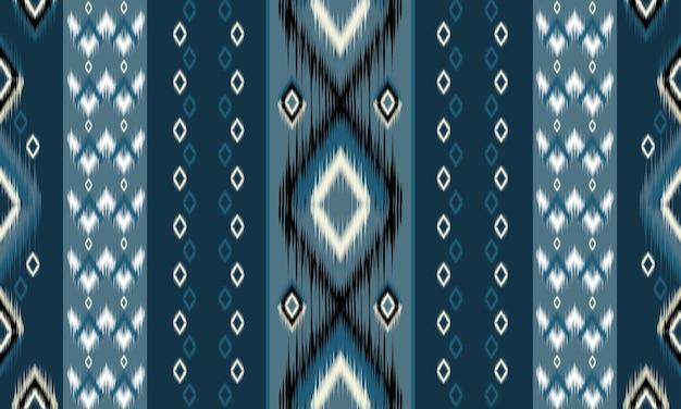 Diseño tradicional de patrón oriental étnico geométrico para fondo, alfombra, papel tapiz, ropa, envoltura, batik, tela, estilo de bordado de ilustración vectorial.