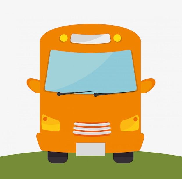 Diseño de transporte de autobús