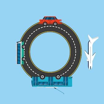 Diseño de transporte masivo, ilustración vectorial gráfico eps10
