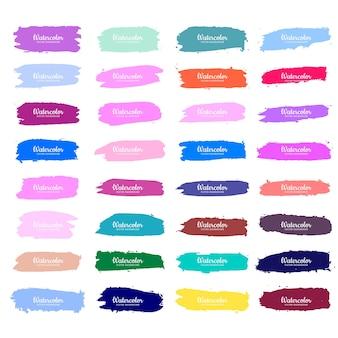 Diseño de trazo de acuarela colorido abstracto