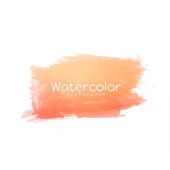 Diseño de trazo de pincel de color naranja suave