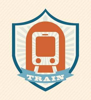 Diseño de trenes sobre fondo rosa ilustración vectorial