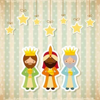 Diseño de tres hombres sabios