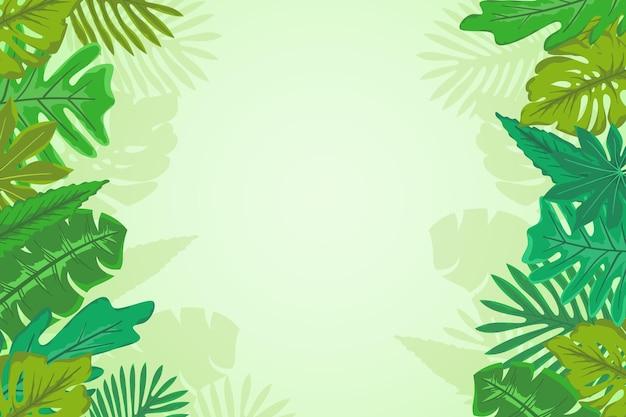 Diseño tropical deja el fondo
