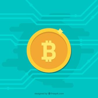 Diseño turquesa de bitcoin