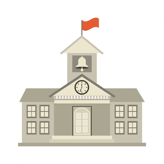 Diseño de la universidad sobre fondo blanco ilustración vectorial