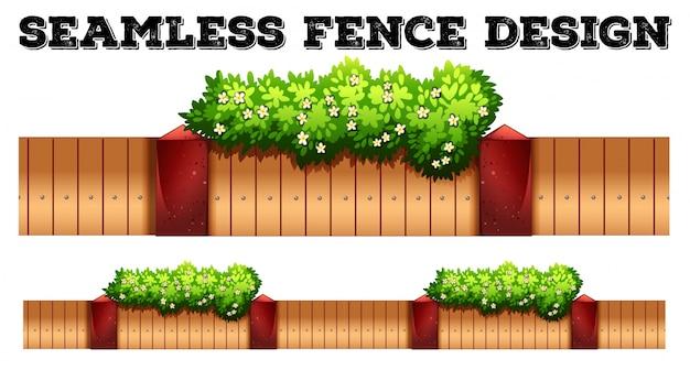 Diseño de valla sin costuras con flor