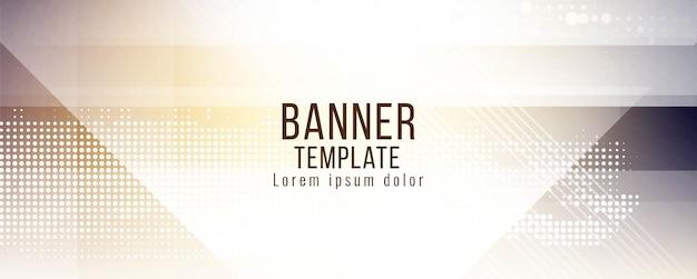 Diseño de vector de banner con estilo abstracto