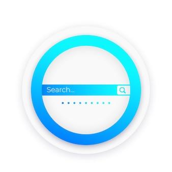 Diseño de vector de barra de búsqueda para web y aplicaciones