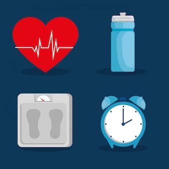 Diseño de vector de concepto de estilo de vida saludable