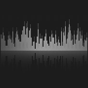 Diseño de vector de ecualizador de onda de sonido