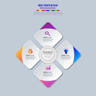 Diseño de vector de elemento de infografías de negocios.