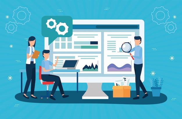 Diseño de vector de estadísticas de análisis empresarial