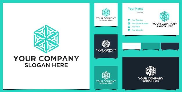 Diseño de vector de flor de mandala abstracto elegante logotipo de vector de ornamento premium y tarjeta de visita