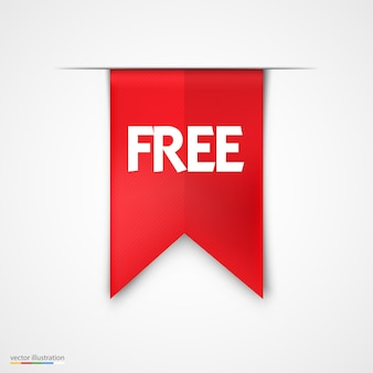 Diseño de vector de icono de etiqueta roja de producto gratis