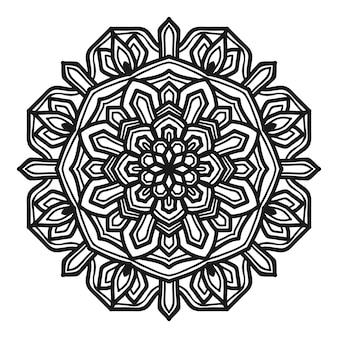 Diseño de vector de ilustración de flor de mandala