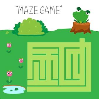 Diseño de vector de juego de laberinto