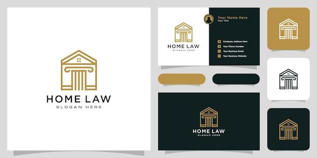 Diseño de vector de logo de ley de casa