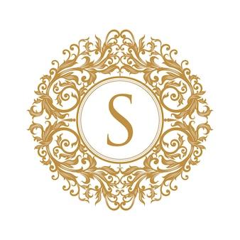 Diseño de vector de logo vintage de lujo
