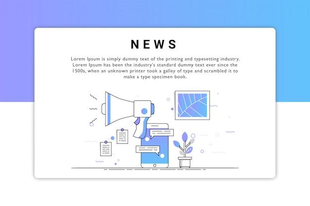 Diseño de vector de noticias