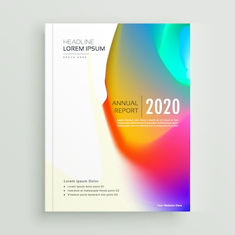 Diseño de vector de página de portada de libro abstracto vibrante