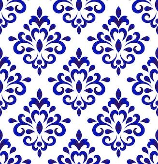 Diseño de vector de patrón damasco