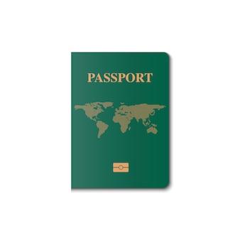 Diseño de vector de portada de pasaporte, ciudadano de identificación