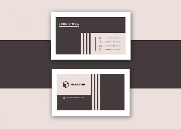 Diseño de vector de tarjeta de visita mínima creativa creativa corporativa limpia