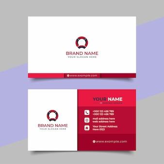 Diseño de vector de tarjeta de visita profesional moderna creativa