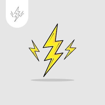 Diseño de vectores de electricidad uso perfecto para el icono de diseño de patrones web ui ux, etc.