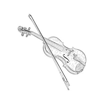 Diseño de vectores de ilustración de violín