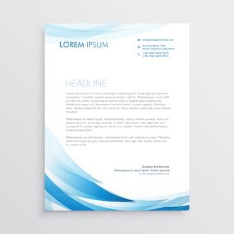Diseño vectorial abstracto membrete azul