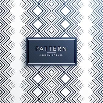 Diseño vectorial azteca línea patrón