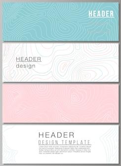 Diseño vectorial de encabezados, plantillas de diseño de banner.