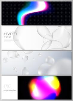 Diseño vectorial de encabezados, plantillas de diseño de banner