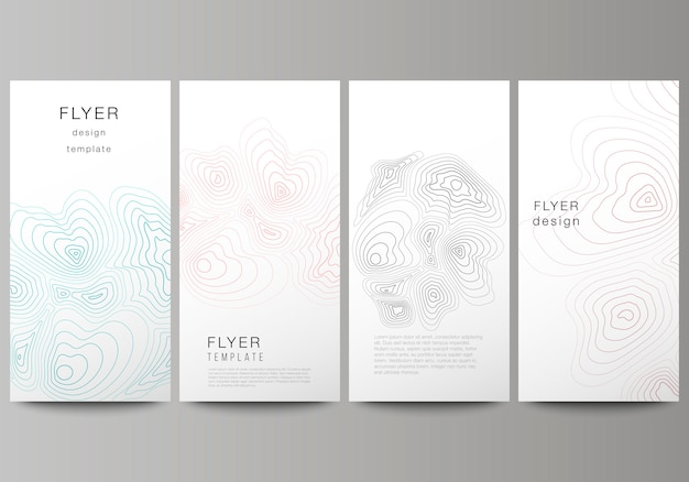 Diseño vectorial de flyer, plantillas de diseño de banner.