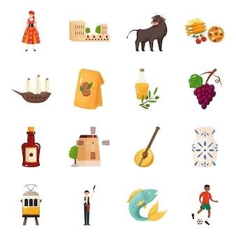 Diseño vectorial y logo. colección y set de viaje