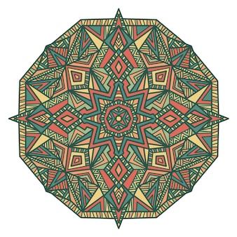 Diseño vectorial de mandala para imprimir. adorno tribal