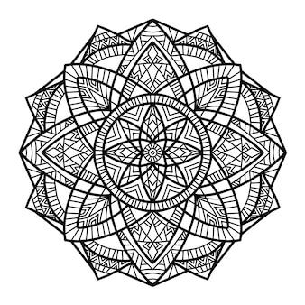 Diseño vectorial de mandala para imprimir