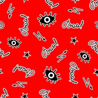 Diseño vectorial de patrones sin fisuras de halloween