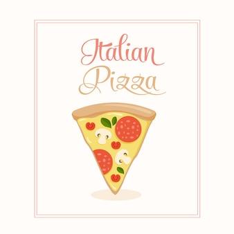 Diseño vectorial de pizza