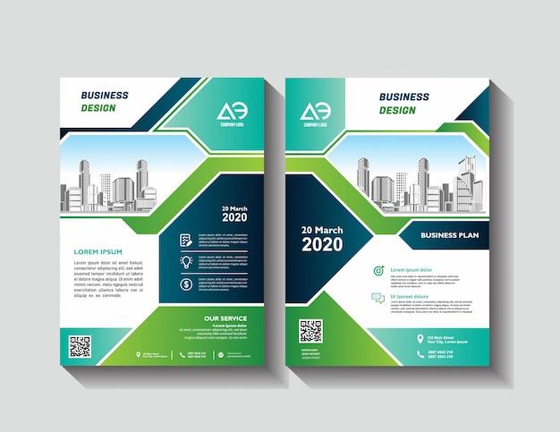 Diseño vectorial de plantilla para folleto informe anual revista cartel presentación corporativa