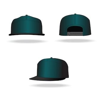 Diseño vectorial rap cap aislado