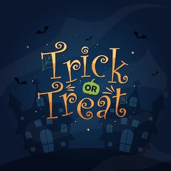 Diseño vectorial de truco o trato para la celebración del día de halloween feliz