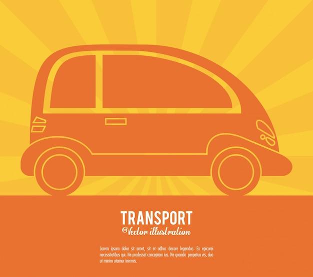 Diseño de vehículo futuro del coche de transporte