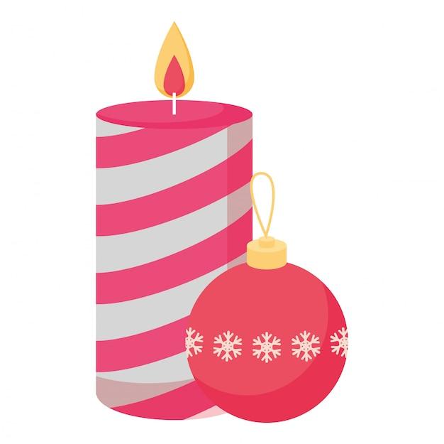 Diseño de vela de navidad