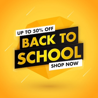 Diseño de venta amarillo de regreso a la escuela