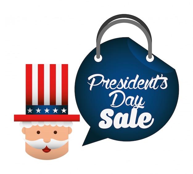 Diseño de venta de dia de presidentes