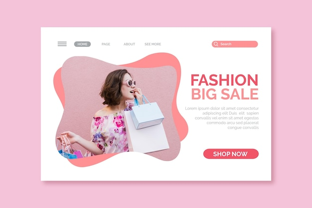 Diseño de venta de moda